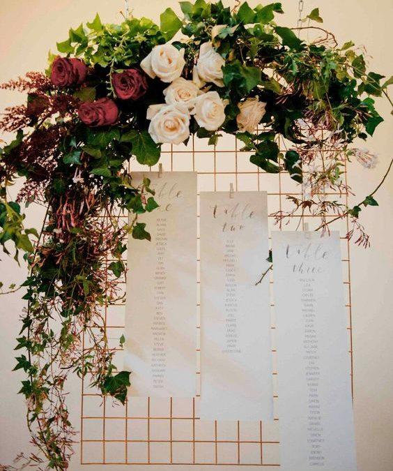 Decoración floral para una boda. Últimas tendencias.