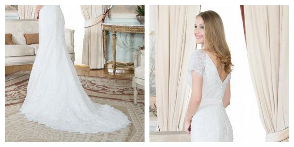 La cola del vestido, un detalle para brillar en tu boda