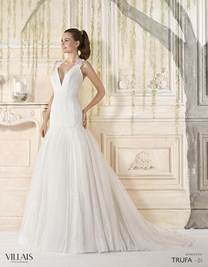 al cuello vestidos novia de amarrados wtiy6yxqs